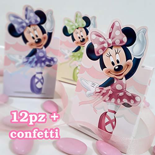 2 Cajas para peladillas con diseño de Minnie y Bailarina de Disney, para Primer cumpleaños