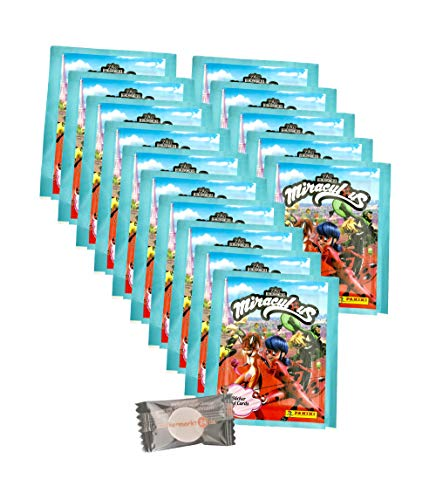 Miraculous Ladybug (2020 - Panini Sticker & Trading Cards - 15 Tüten + stickermarkt24de Gum