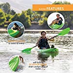 Lifetime Youth 6 Feet Wave Kayak with Paddle 9 Perfect for Kids of All Ages Molded Finger Handles on Each Side of Kayak Swim-Up Step