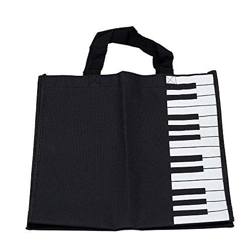 Handtasche - SODIAL(R) Klaviertasten Musik Handtasche Tragetasche Einkaufstasche Geschenk