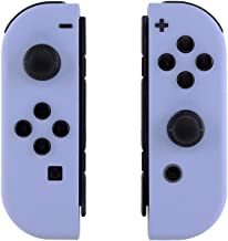 eXtremeRate Soft Touch Grip Light Violet Joycon Handheld Controller Housing with Full Set Buttons, DIY Replacement Shell Case for Nintendo Switch Joy-Con – Console Shell NOT Included