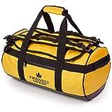The Friendly Swede Duffel Bolsa de Viaje y Deporte Convertible en Mochila - Duffle Bag (Capacidad: 30l/ 60l/ 90l) (30L Amarillo)