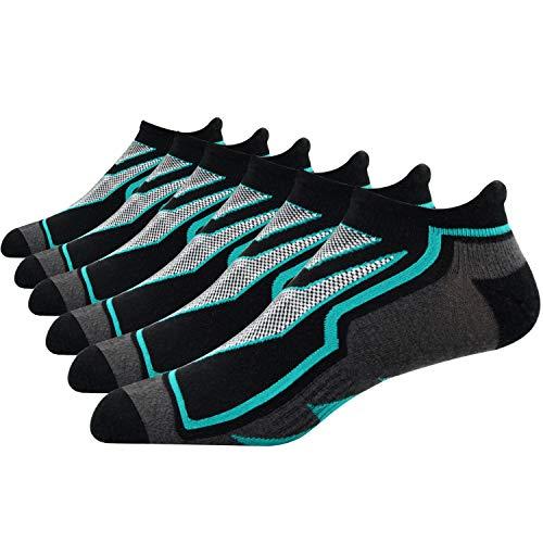 Busy Socks Mens Running Socks, Arch Support Cushioned Elite Basketball No-Show Socks 3 Pack