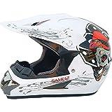 Allround Helmets Dot Certificado Casco de Cross de Moto Set,Motocicleta Sport Integral Off-Road, Cascos de Motocross, Enduro Downhill Casco Integral ATV MTB BMX Quad con Gafas Máscara Guantes