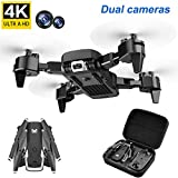 LYHLYH 4k Drone, Zoom Caméra HD Pliable Drone 50x, 20 Minutes Vie de la Batterie Hauteur Fixe de la Photographie aérienne Mode Suivez-Moi pour Les débutants