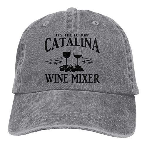 Denim Cap Fuckin' Catalina Wine Mixer Baseball Dad Cap Adjustable Classic Sports for Men Women Hat-Gray