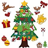 GREENLEAF DIY Felt Christmas Tree Set 3.5ft, Xmas Decorations Wall Hanging Detachable Ornaments