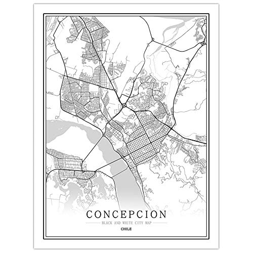 Chile Mapa creativo ciudad Santiago Pinturas abstractas