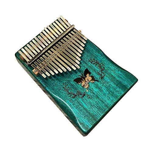 LZDseller01 Kalimba 17 Keys Thumb Piano mit Lernanleitung und Stimmhammer, tragbares akustisches, langlebiges Musikinstrument Kalimba, Erwachsene Kinder und Anfänger