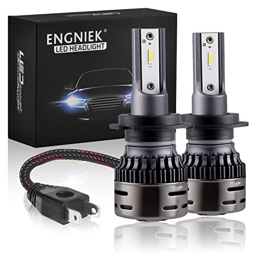 H7 LED Headlight Bulbs Pure White Bright High Low Beam Conversion Kit 40W 9800Lm 6000K, 2 Pack