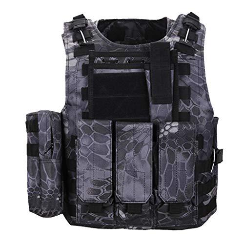 QHIU Tactische Vest Camo Molle bescherming Bestrijding Militair Vest voor Airsoft Paintball CS SWAT Wargame Outdoor Sport