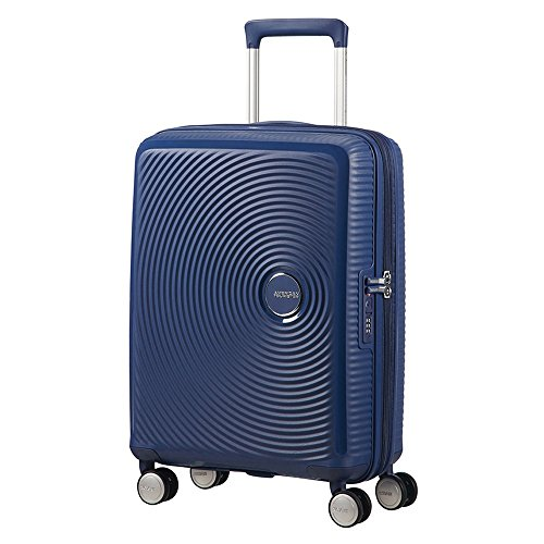 American Tourister Soundbox Spinner Equipaje de mano S (55 cm 41 L), Azul (Midnight Navy)