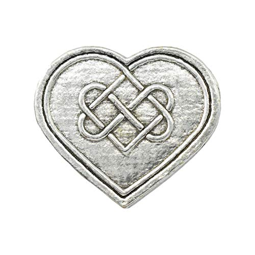 Antique Pewter Heart with Celtic Knot Pin A106