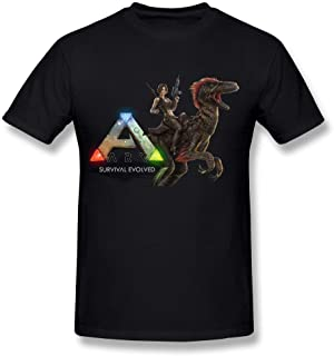 Men's Casual Ark Survival Evolved Tee T Shirt Short Sleeve O-Neck Cotton T-Shirt Sports Tops Plus Size Tshirt