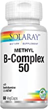 Solaray Methyl B-Complex 50mg | Methylated Forms of Folate & B-12 | Healthy Hair & Skin, Nerves, Immune Function & Metabol...