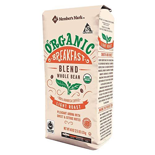 Member's Mark Organic Breakfast Coffee, Whole Bean 40 oz. A1