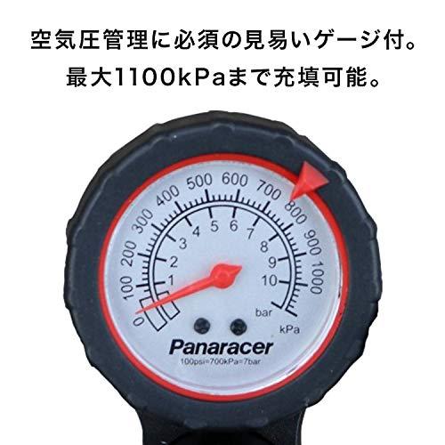 パナレーサー(Panaracer)空気入れポンプアルミ製04フロアポンプゲージ付米式仏式対応オートヘッド英式クリップ付イエローBFP-04AGA3-Y