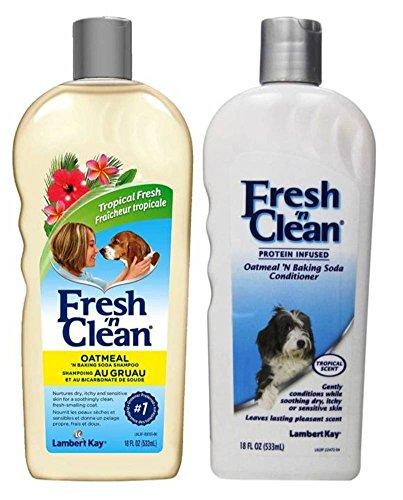 Fresh 'n Clean Dry Skin Oatmeal 'N Baking Soda Shampoo & Conditioner Tropical Scent Bundle: (1) Oatmeal Baking Soda Shampoo, and (1) Oatmeal Baking Soda Conditioner