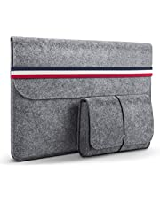 HOMIEE Laptopfodral, 15,4-15,6 tums skyddskåpa för bärbar datorfodral med extra förvaringsskydd och musmatta för MacBook/Mac Pro/Acer/Asus/Dell/Lenovo/HP/Chromebook (ljusgrå) Produktnamn