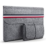 HOMIEE 13.3 Pouces Housse protectrice en Feutre pour Ultra-Mince MacBook Pro Retina, MacBook Air, iPad Pro 32.5 cm, Dell/Lenovo/HP/Chormebook Ultra Slim Notebook/Bleu Blanc Rouge