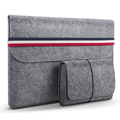 HOMIEE Custodia PC 13/13.3 Pollici con Piccola Borsa Aggiuntiva, Custodia Morbide per MacBook Air, MacBook Pro/Dell/Lenovo/HP/Chromebook e Oltre 13 Pollici Notebook PC