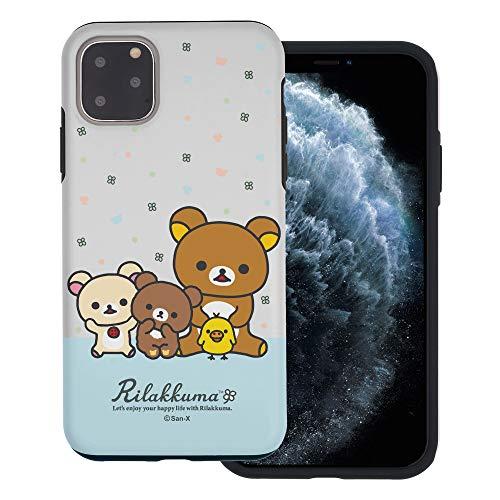 Compatible with iPhone 12 Pro Max Case (6.7inch) Rilakkuma Layered Hybrid [TPU + PC] Bumper Cover - Rilakkuma Friends
