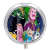 Adventure Timeピルボックス 小型収納ケース 錠剤 Pill Box 薬ケース サプリケース ガムケース 薬入れ 小物入れ 薬ストレージ 密閉 旅行用 携帯用 コンパクト プレゼント