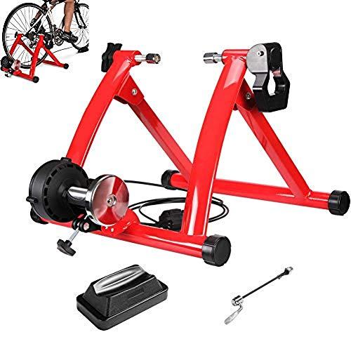 Entrenamiento Bicicleta Rodillo, Bicicleta Fija Soporte estacionario para Montar en el Interior,...
