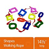 Excellerations Shapes Walking Rope for Kids Classroom Supplies(14 1/2' Long)