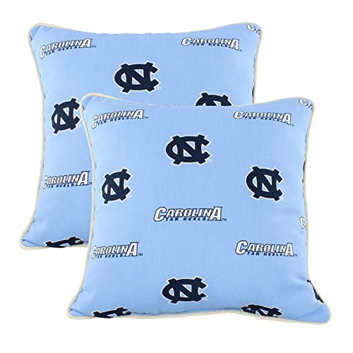 College Covers North Carolina Tar Heels Outdoor Decorative Pillow Pair, 16