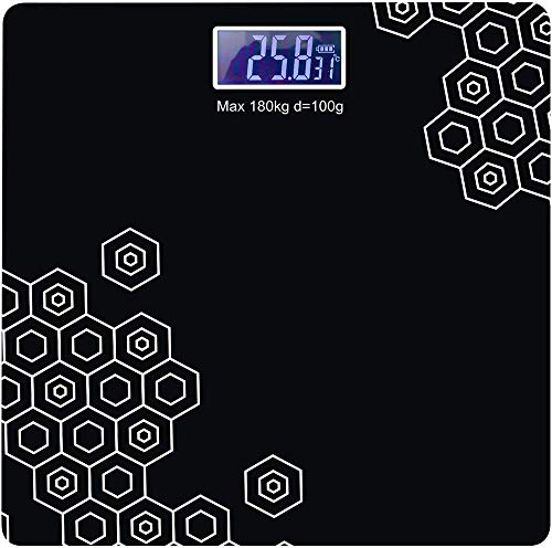 MC ETHNIC Electronic Thick Tempered Glass LCD Display Digital Personal Bathroom Health Body Weight Weighing Scales For Body Weight, Weight Scale Digital For Human Body (Bathroom Scale)