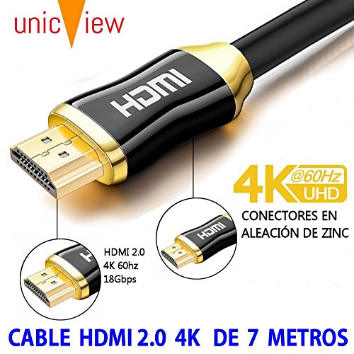 Cable HDMI 2.0 4K Ultra HD Marca Unicview   Alta Velocidad