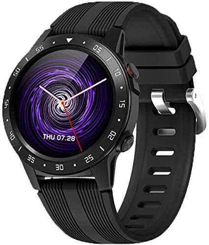SHIJIAN Reloj inteligente de los hombres, 1.3 pantalla táctil GPS independiente de dibujos animados monitor de ritmo cardíaco IP67 impermeable brújula barómetro clima deportes desgaste diario reloj-A