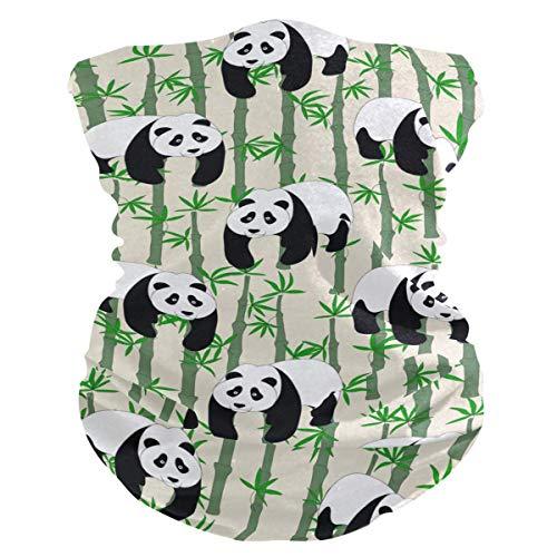 Haarband voor dieren, panda, bamboe, motief gezicht, uv-zonbescherming, masker, hals, magische sjaal, bandana, hoeden, balaclava, voor vrouwen en mannen