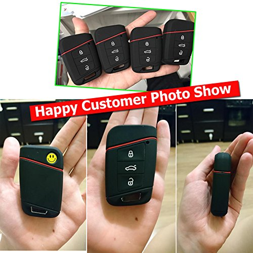 3 Button Silicone Car Remote Key Fob Shell Cover Case For VW PASSAT Jetta For Skoda Kodiaq Superb A7 2015 2016 2017 2018 2019 2020 Shell Holder
