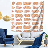 Tapestries Fashion Wall Hanging Cozy Indoor Tapestries for Bedroom Living Room Dorm Home Decorate Blanket 59 X 59 Inch Delicious Penis Hot Dog
