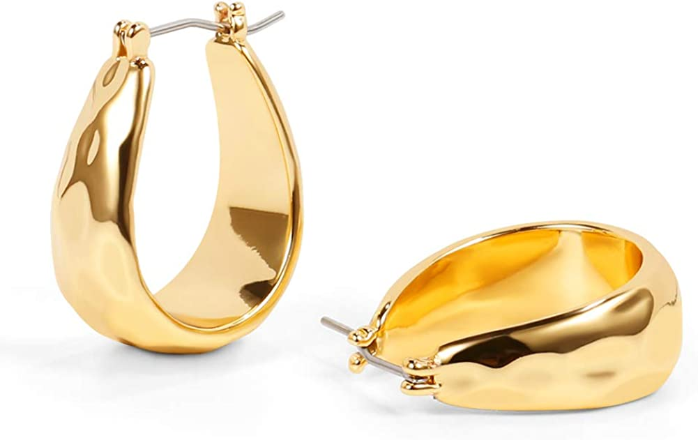 LILIEWHITE Gold Chunky Hoop Earrings For Women Gold Thick Hoops