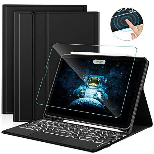 Sross Tastatur für iPad Air 4, Kabellose Beleuchtete Bluetooth QWERTZ iPad Air 4. Generation 10.9