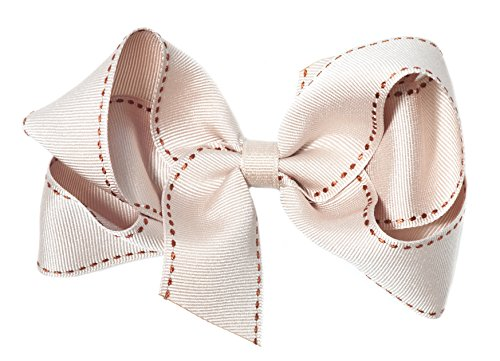 """Anna Belen Girls """"Adeline"""" Large Stitched Bow Clip"""