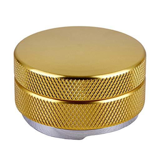 Walbest Coffee Tamper Stainless Steel Adjustable Height Espresso Powder Distributor Tamper - Golden