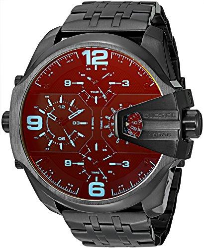 Diesel Herren Analog Quarz Uhr mit Edelstahl Armband DZ7373