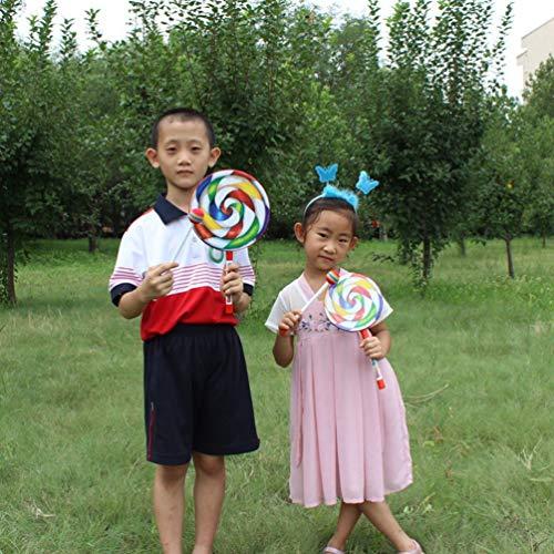 SZYZ Rainbow Blow Lollipop Drum Orff Instrumento Musical Música Percusión Juguete Multicolor 8 Pulgadas