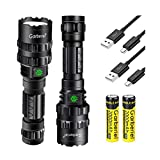 2 Pack L2 Brightest LED Flashlights Rechargeable 3000 High Lumens Waterproof Flashlight with 5 Light Modes for Working, Camping, Hiking (18650 Battery and Charger Included)