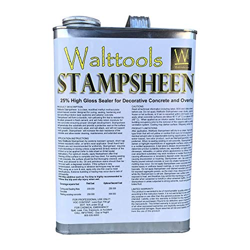 Stampsheen   Ultimate Wet Look, High-Gloss, Cure & Seal, Concrete Sealer (1 Gal)