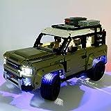 EDCAA Kit de luces LED para Technic Land Rover Defender Off Road 4x4 coche bloques de construcción compatible con Lego 42110 (no incluido modelo)