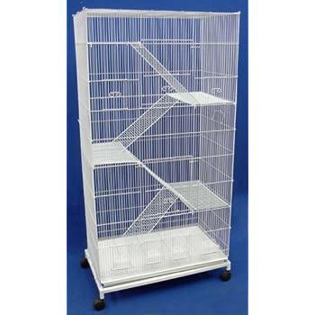 Brand New Bird Sugar Glider Ferret Cage On Wheels 30x18x59, WHT