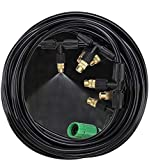 bangder Leak Proof Brass Misting Cooling System- Misters for Patio, Gazebos, Backyard Cooling, Pool and Play Areas(33ft tubing)