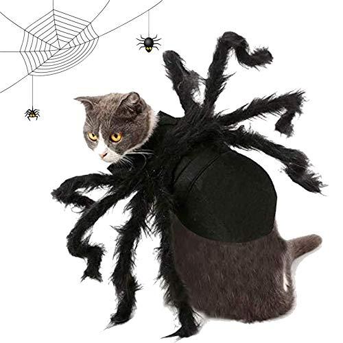 OLT-EU Disfraz Murciélago Halloween Mascotas, Perros Gatos Decoración Disfraces Navideños, Disfraz Mascota Alas Araña para Halloween Cosplay Parties Accesorios (M)