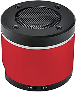 Gear Head Portable Bluetooth Speaker for iPad/iPhone/iPod, Red/Black (BT3000RED)