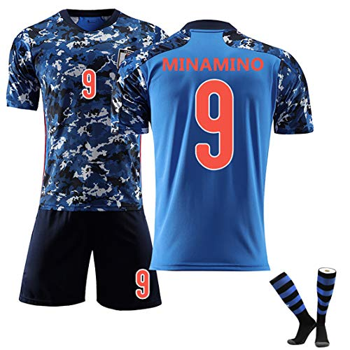 XZM Fußballfan Trikot SHIBASAKT7 MINAMINO9 KAGAW A10Fußballuniform , Japanisches TeamTraining-Set, verblasst Nicht, Kann wiederholt gereinigt Werden (Geschenke zum Kindertag)-NO9-16